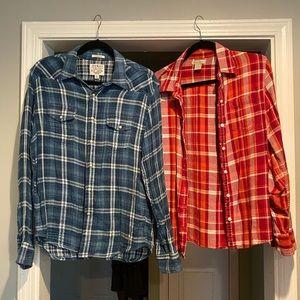 2 Lucky Brand Flannels